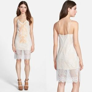 ASTR The Label White Embroidered Lace Mini Dress